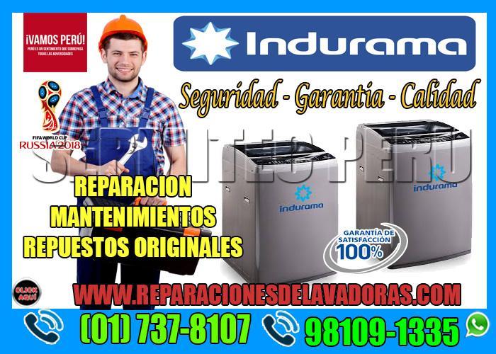 Sermitec Perú| Servicio técnico de Lavadoras INDURAMA -7378107 en Breña