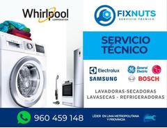 SERVICIO TECNICO FIXNUTS REPARACION -CENTRO DE LAVADO Y REFRIGERADORA WHIRLPOOL 960459148