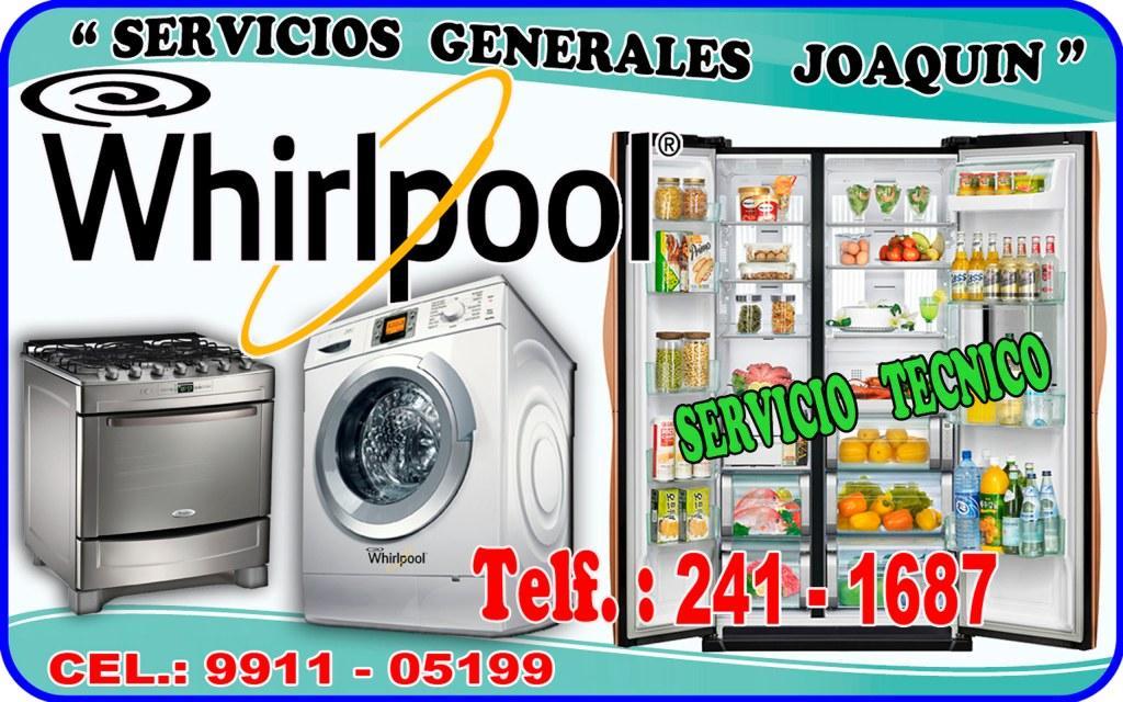 Servicio técnico WHIRLPOOL lavasecas y refrigeradores en lima