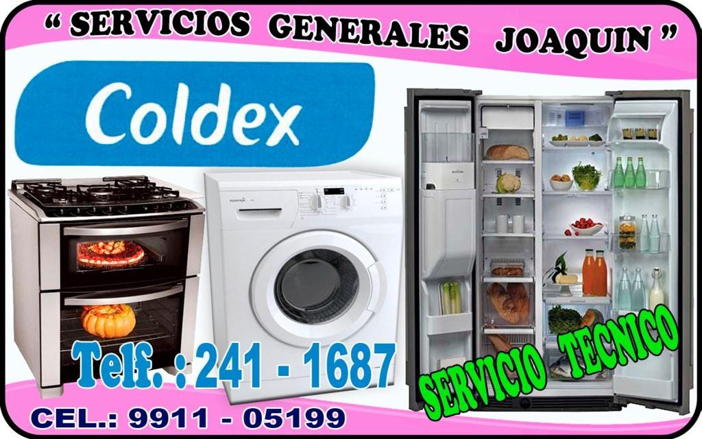 Sercivio técnico COLDEX lavadoras cocinas y refrigeradores en lima 241-1687