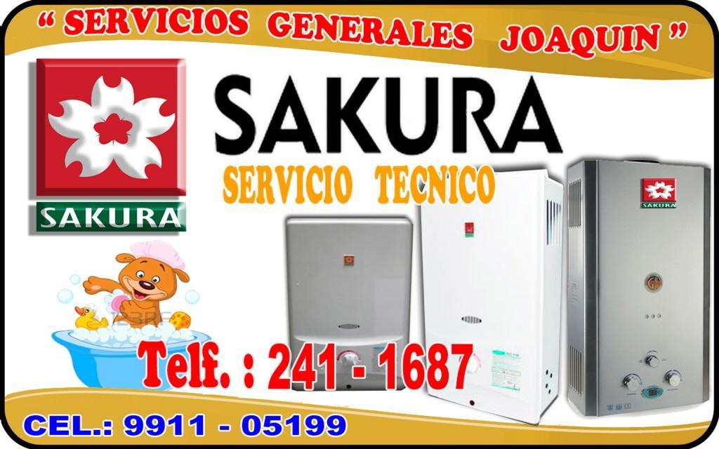 Servicio técnico = SAKURA = termas electricas  241-1687