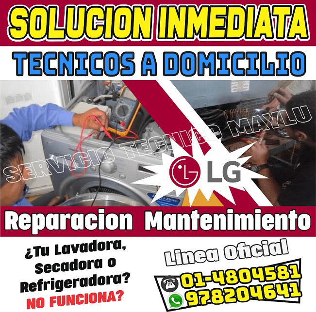 tecnico de lavadora lg en san luis Fijo: (01)4804581 // 01-7576173