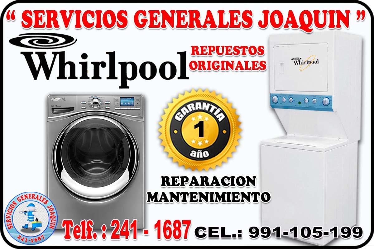 Servicio técnico = WHIRLPOOL = lavasecas, refrigeradores en todo lima