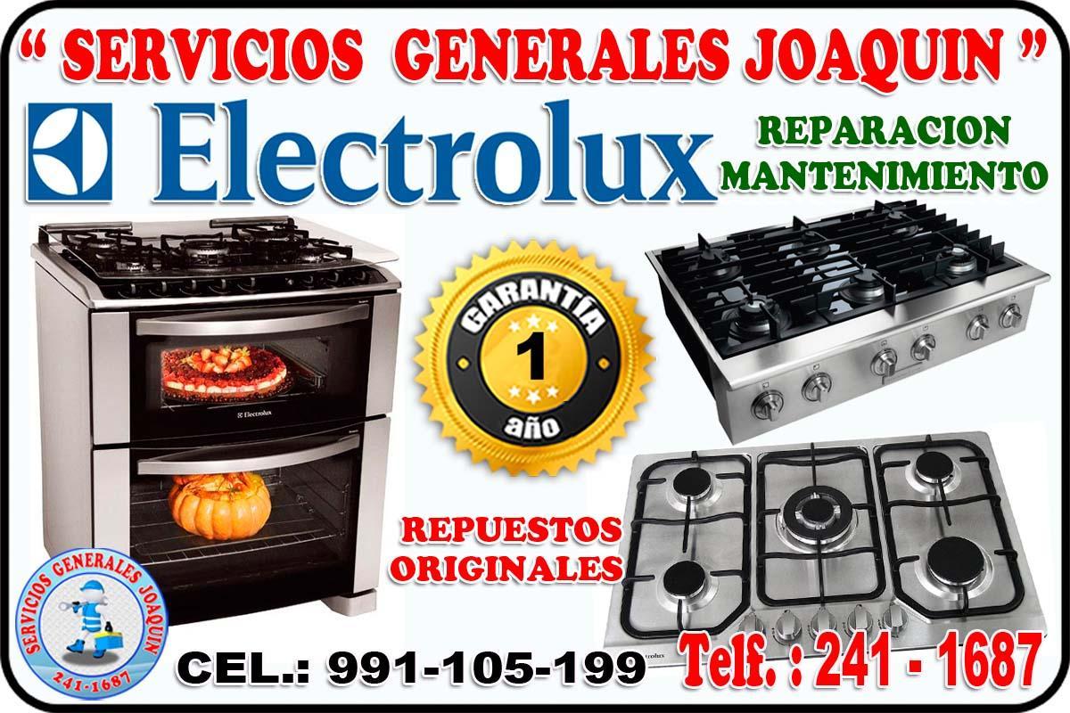 Servicio técnico =  ELECTROLUX = lavadoras, cocinas, refrigeradores 991-1 05-199