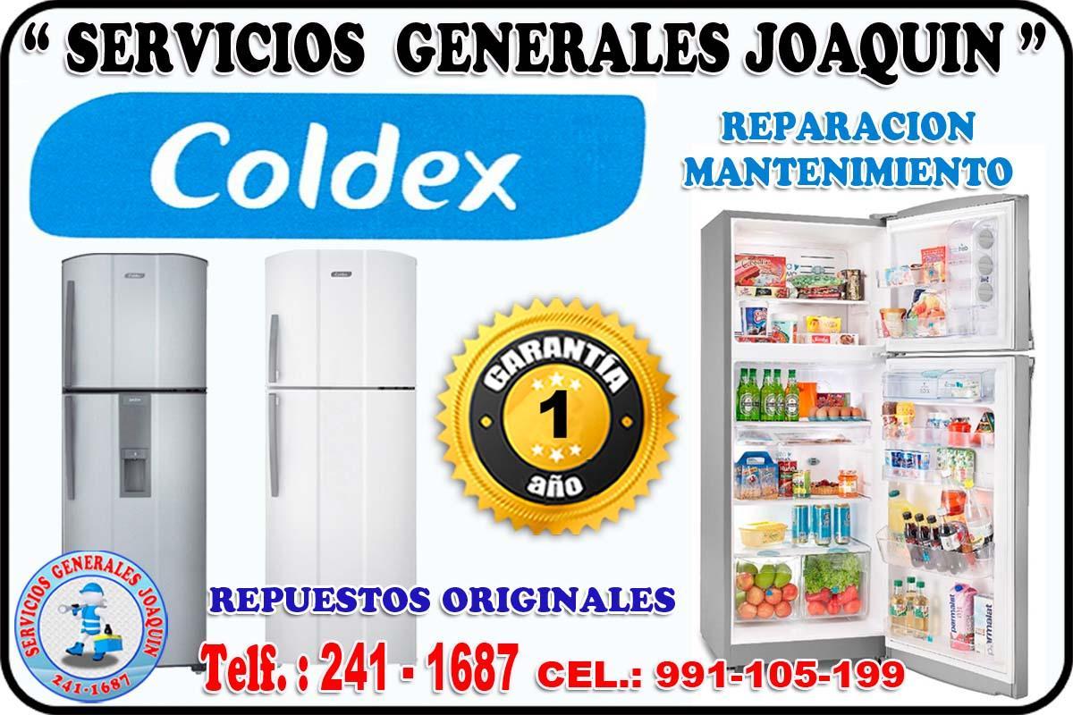 Sercivio técnico  * COLDEX * lavadoras, cocinas, refrigeradores en lima 241-1687