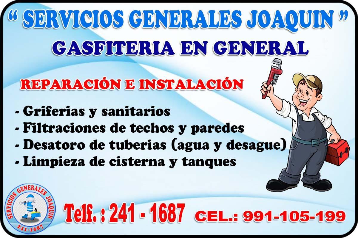 Tecnico especialistas  en GASFITERIA en todo lima 991-105-199