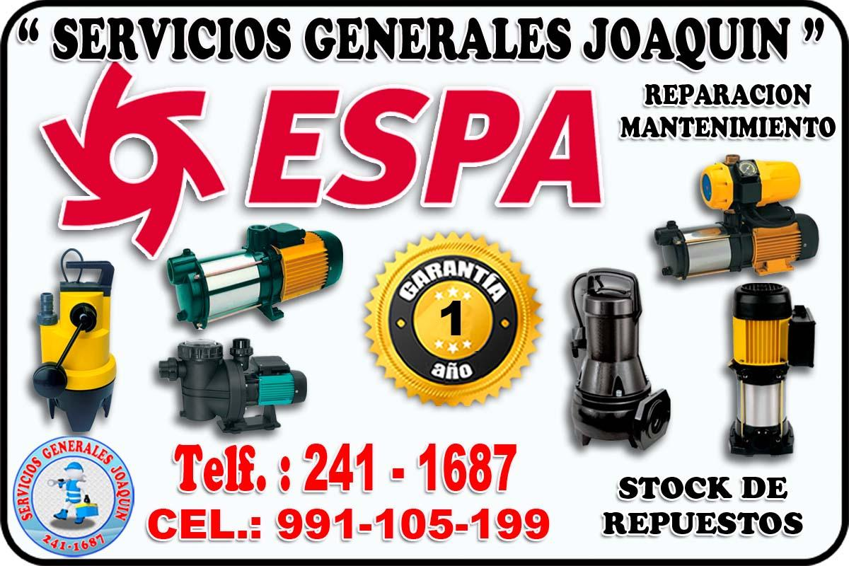 Tecnicos especializados de electrobombas  ESPA 991-105-199