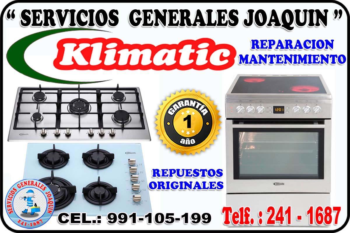 Servicio técnico = KLIMATIC = lavadoras, cocinas 991-105-199