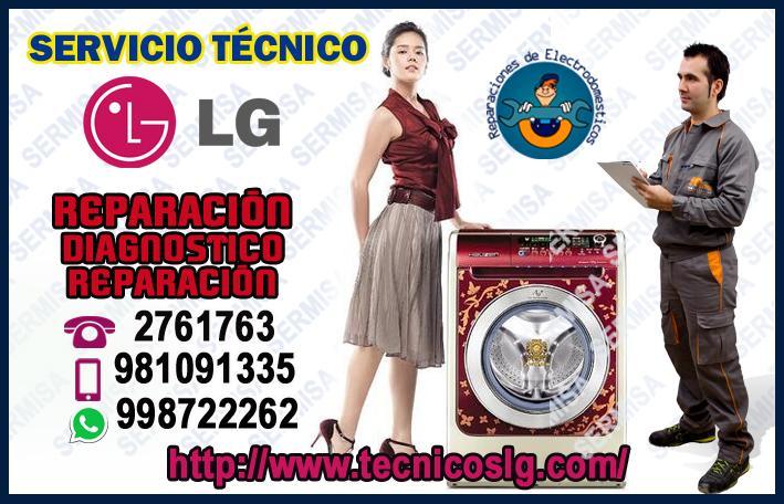 ¡A domicilio! Servicio Técnico en Lava-Secas LG 2761763- La Molina