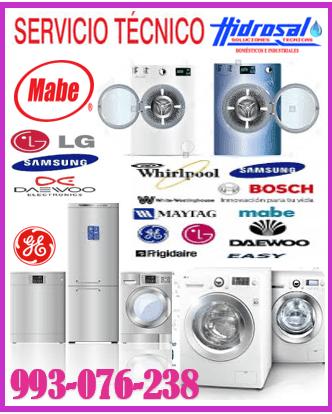 Servicio técnico de lavadoras y mantenimientos 993-076-238