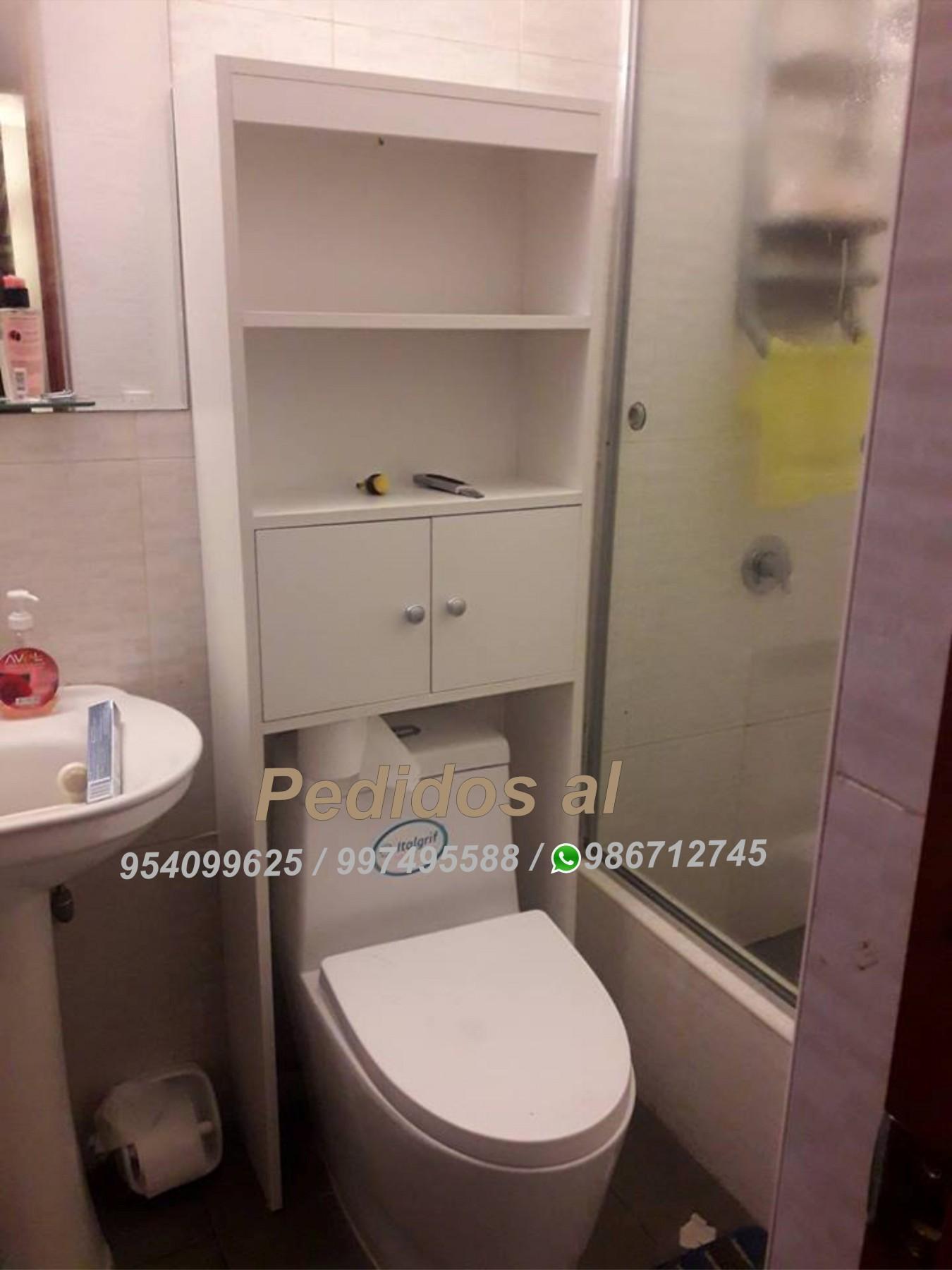 Muebles de melamina para baños (OPTIMIZADOR DE BAÑO MADRID)