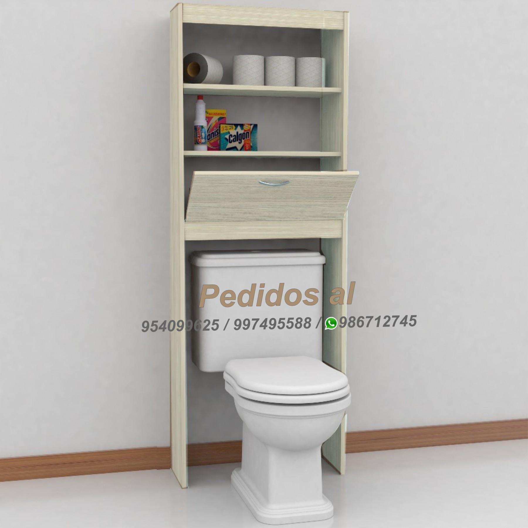 Muebles de baños modernos, organizadores (Organizador de baño sobre inodoro Málaga)