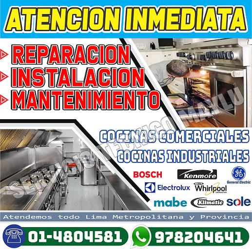 7576173 - 4804581 = Mantenimiento General Electric De Cocina A Gas Y Eléctrica, En El Agustino