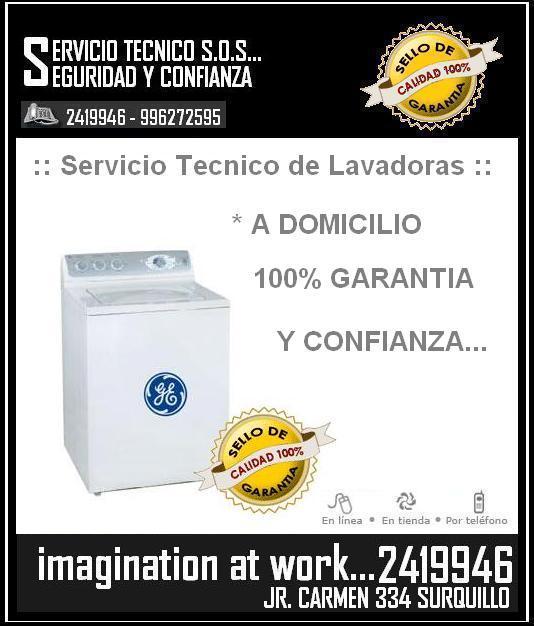 {{}} 2419946 === SERVICIO TECNICO DE LAVADORAS GENERAL ELECTRIC === SERVICE {{}}