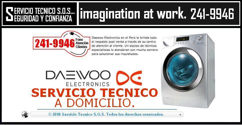 {{}} 2419946 === SERVICIO TECNICO DE LAVADORAS DAEWOO === SERVICE {{}}