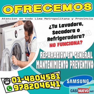 Oferta Exclusiva Samsung, 7576173 - En Miraflores (( Reparación De Lava Seca ))